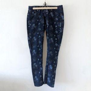 Floral print skinny jeans size 10